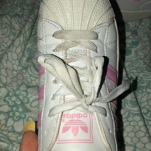 adidas superstar light pink size 5